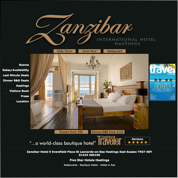 Boutique hotel based in Hastings