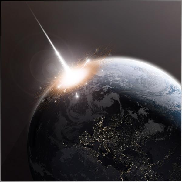 Asteroid strike on Earth